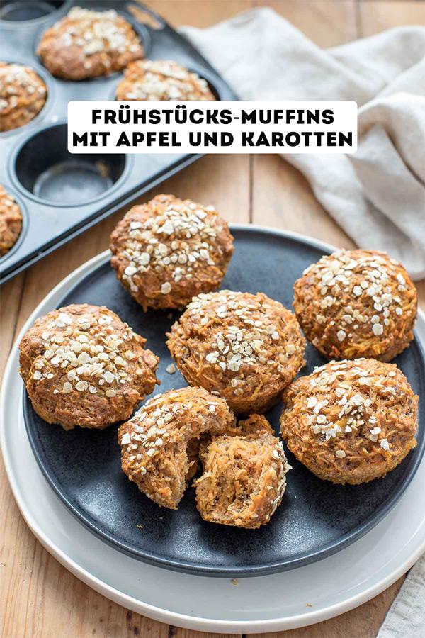 Frühstücks-Muffins mit Apfel und Karotten Rezept