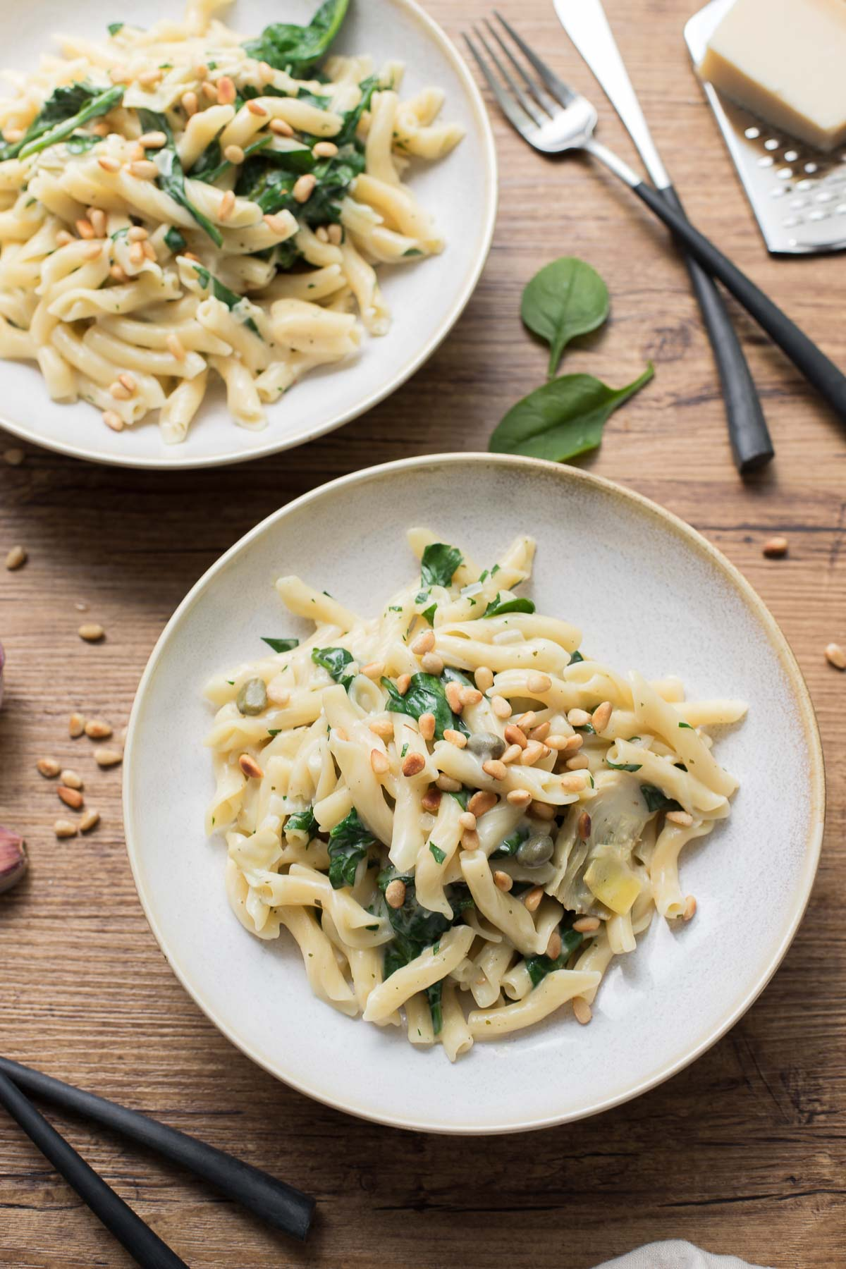 Cremige One Pot Pasta mit Artischocken & Zitrone | Rezept | Elle Republic
