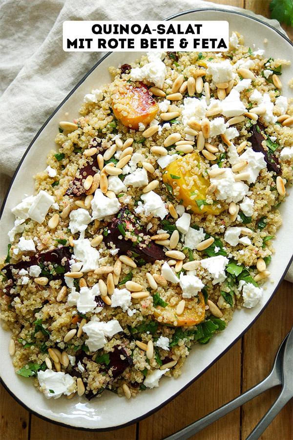 Quinoa-Salat mit Rote Bete und Feta Rezept