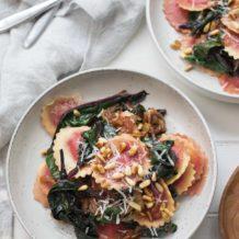 Pasta Ravioli mit Rote-Bete-Blättern Rezept mit Steinhaus Raviolo