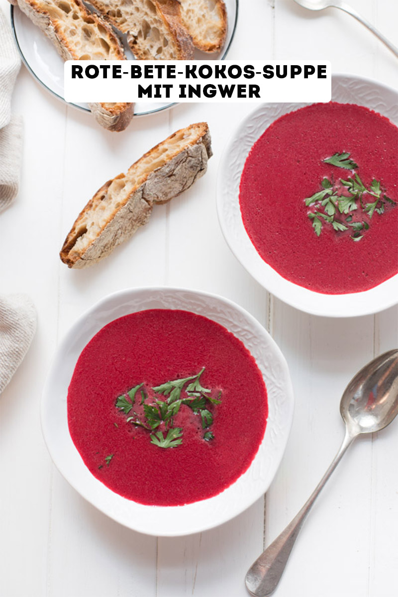 Rote-Bete-Kokos-Suppe mit Ingwer Rezept