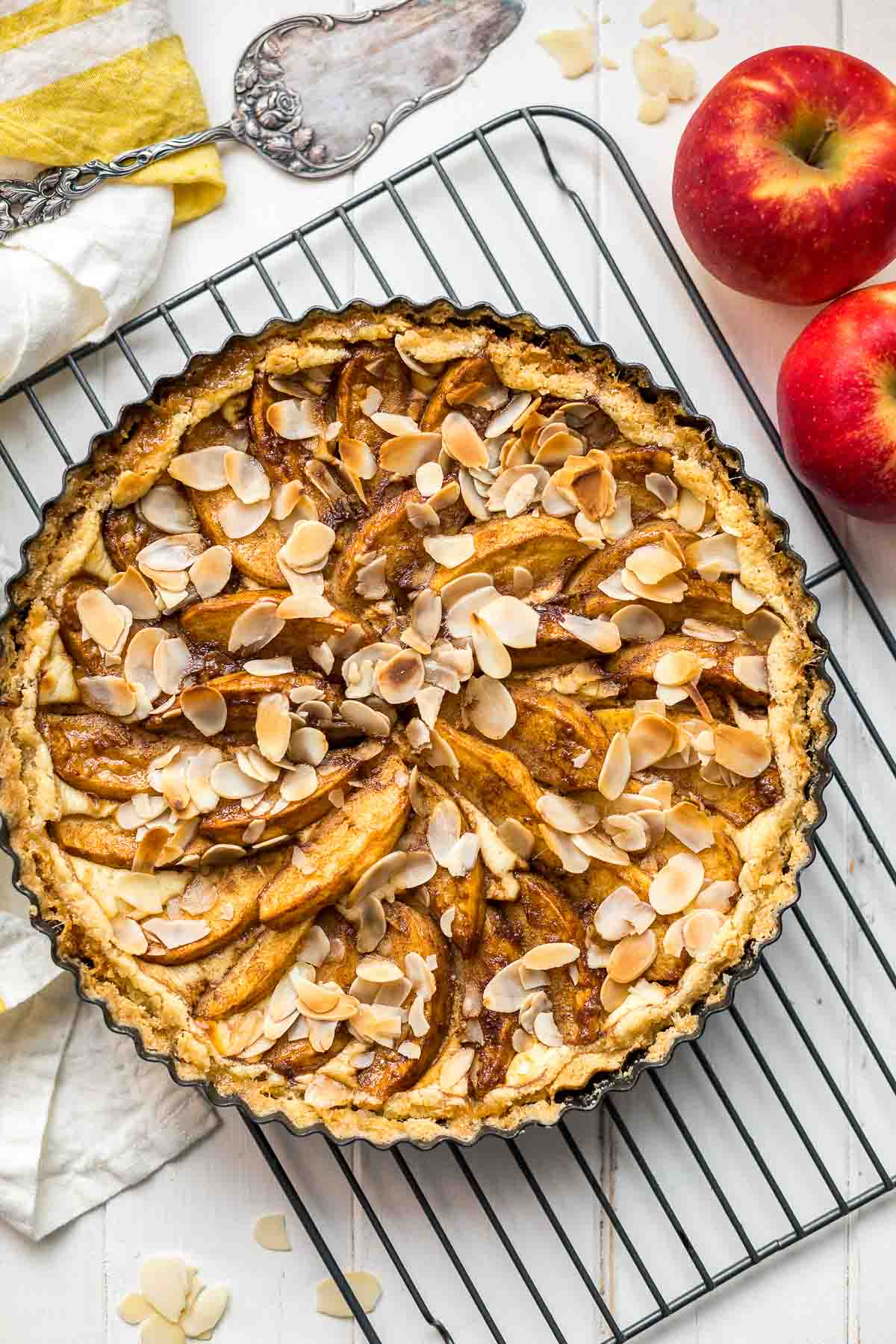 German Apple Torte with Quark   Recipe   Elle Republic
