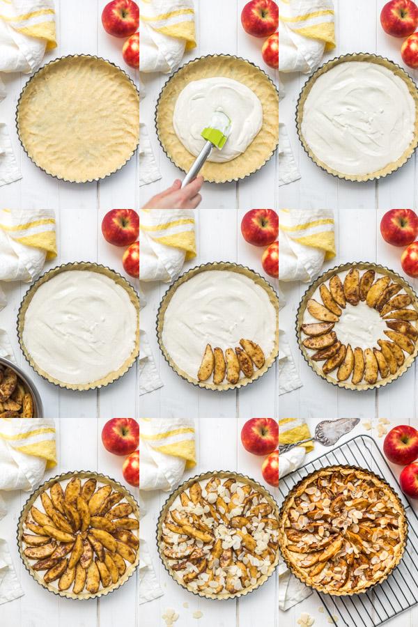 Schritte: Apfel-Quark-Kuchen, Apfeltarte Rezept