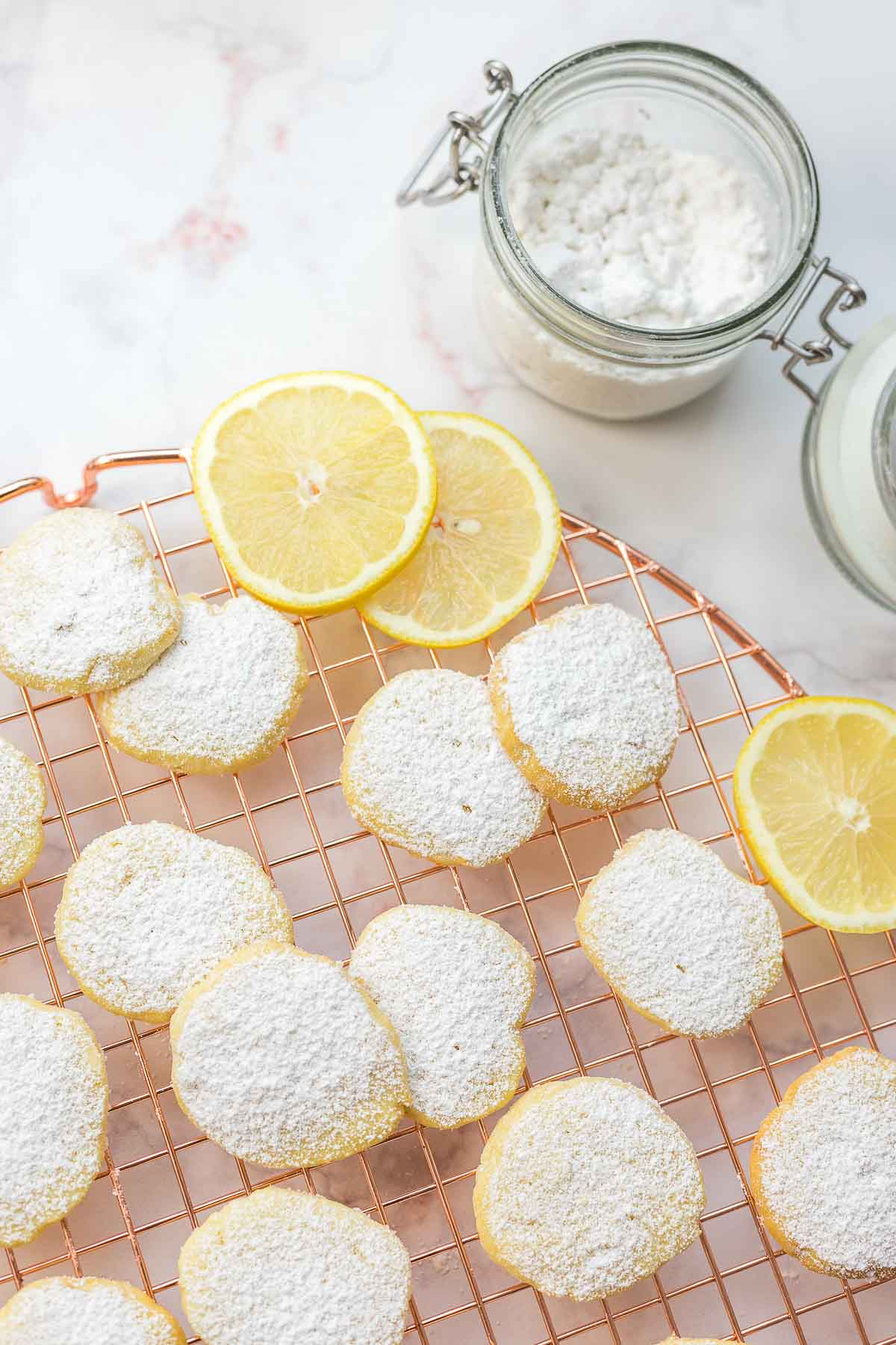 simple lemon butter cookies made with spelt flour