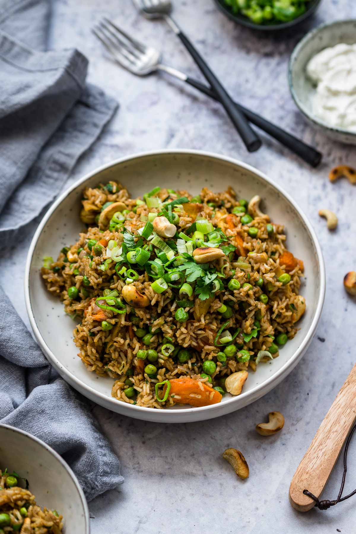 Indian Curried Rice with Roasted Carrots