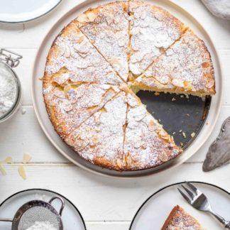 Mandelkuchen mit Ricotta und Zitrone (ohne Mehl), glutenfreies Rezept