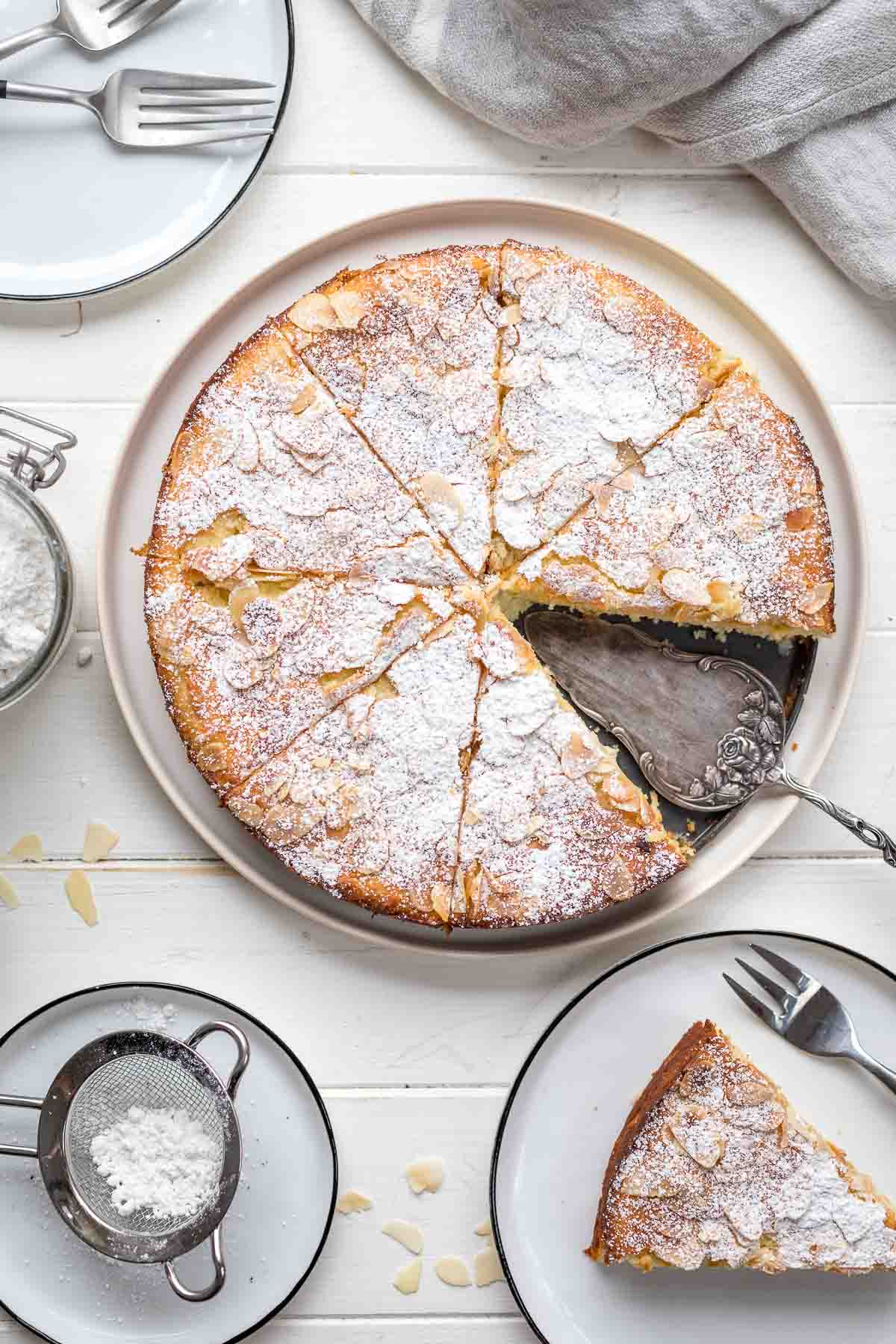 Mandelkuchen mit Ricotta und Zitrone (ohne Mehl)