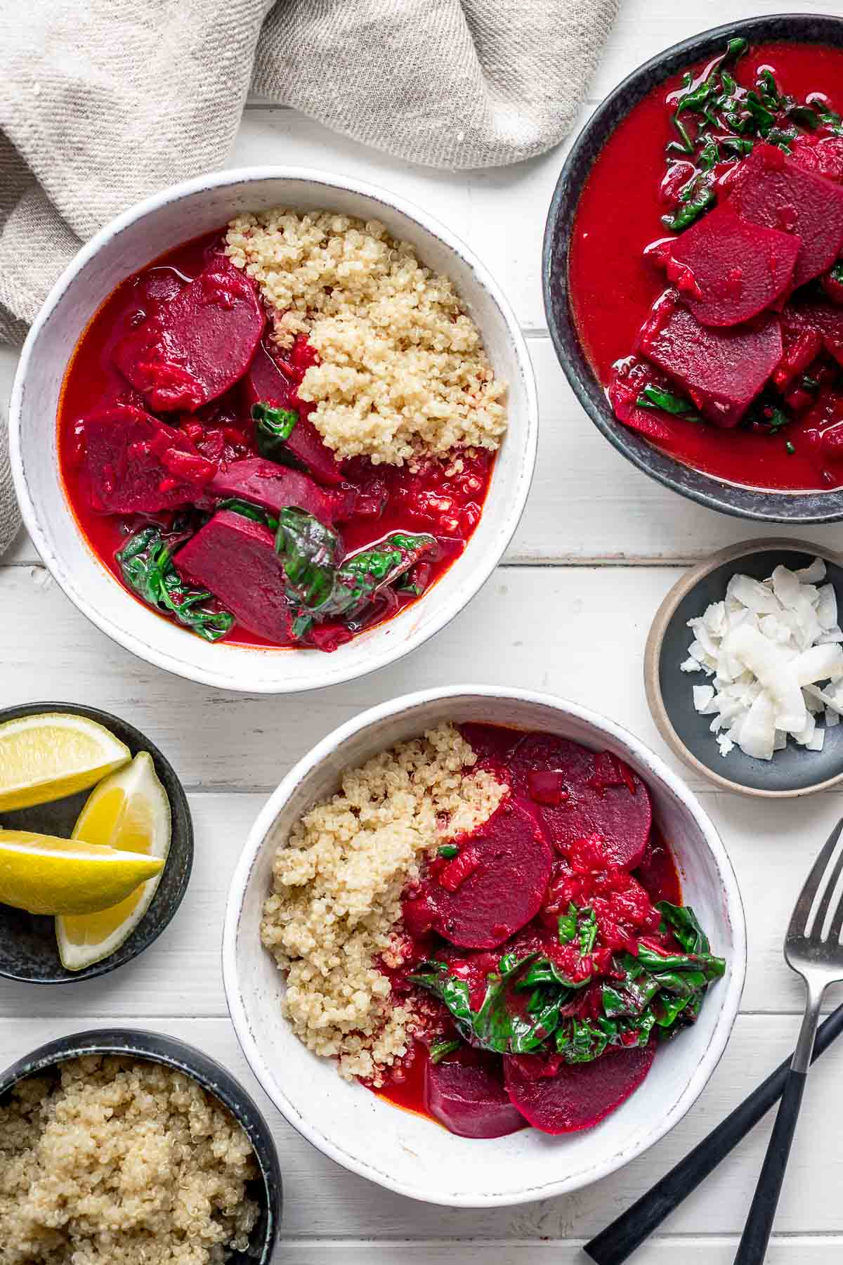 Beetroot curry recipe with spinach