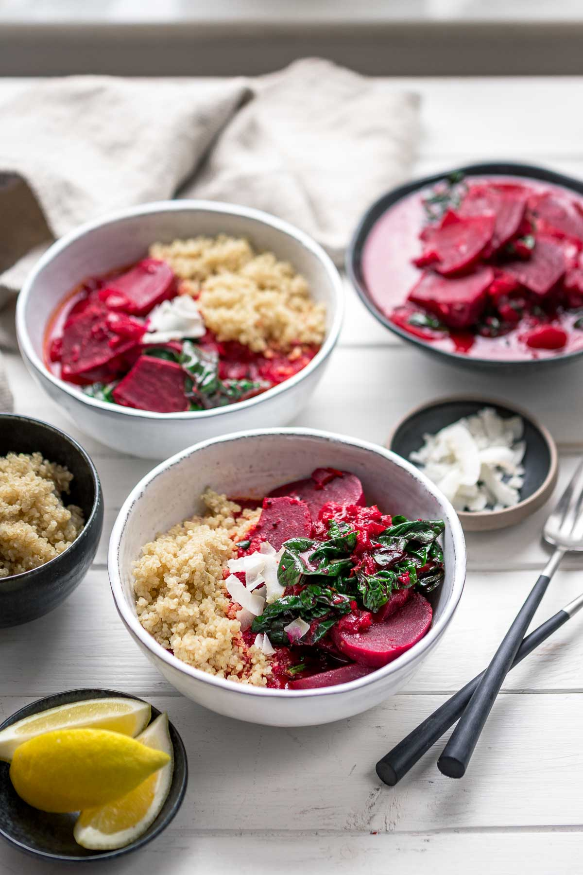 Beetroot Curry with Coconut Milk & Spinach