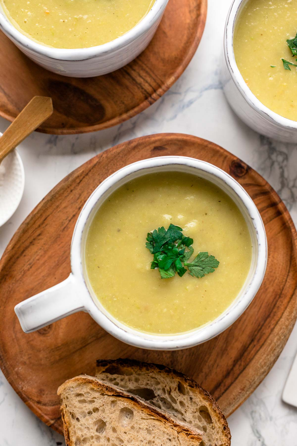 Potato Soup with Parsnip & Leek, without cream