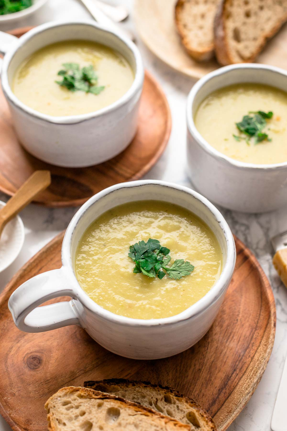 Potato Soup with Parsnip & Leek