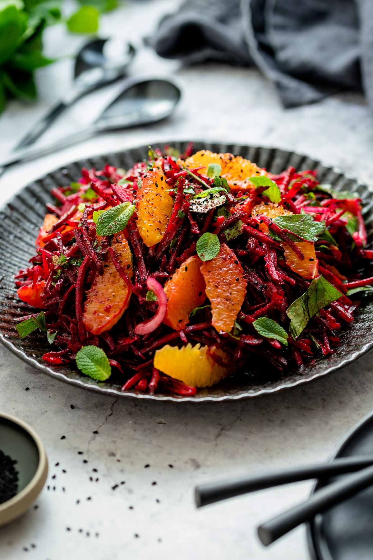 Beetroot and Orange Salad with Fresh Herbs
