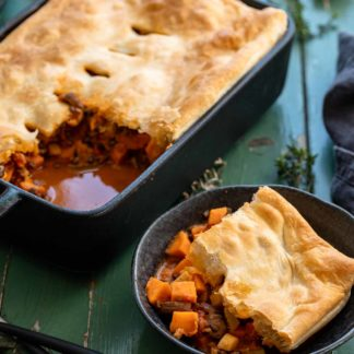 Vegetable Pot Pie with Sweet Potato & Lentils