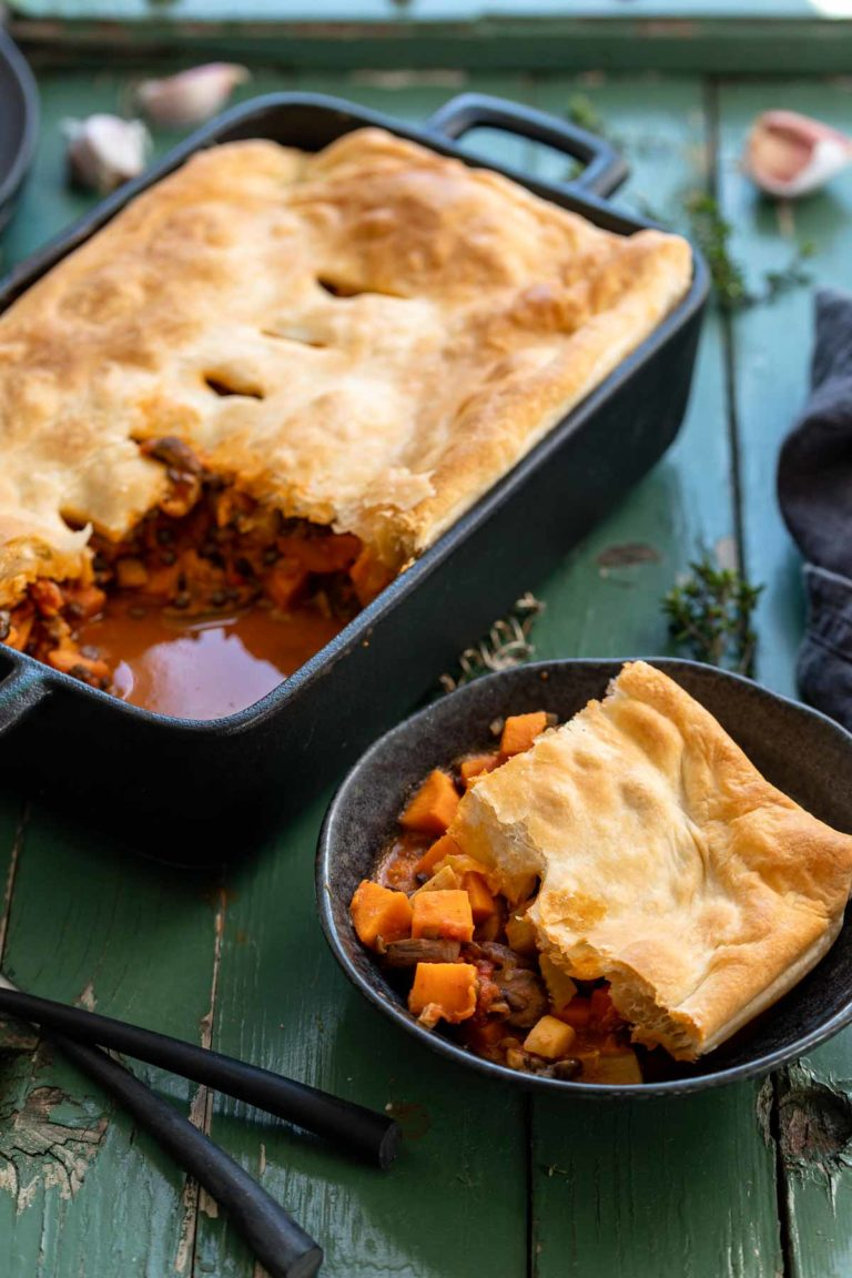 Vegetable Pot Pie with Sweet Potato & Lentils
