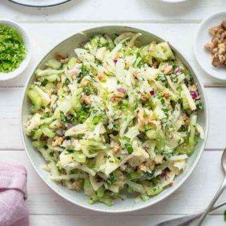 Sellerie Salat mit Apfel, Fenchel mit Parmesan
