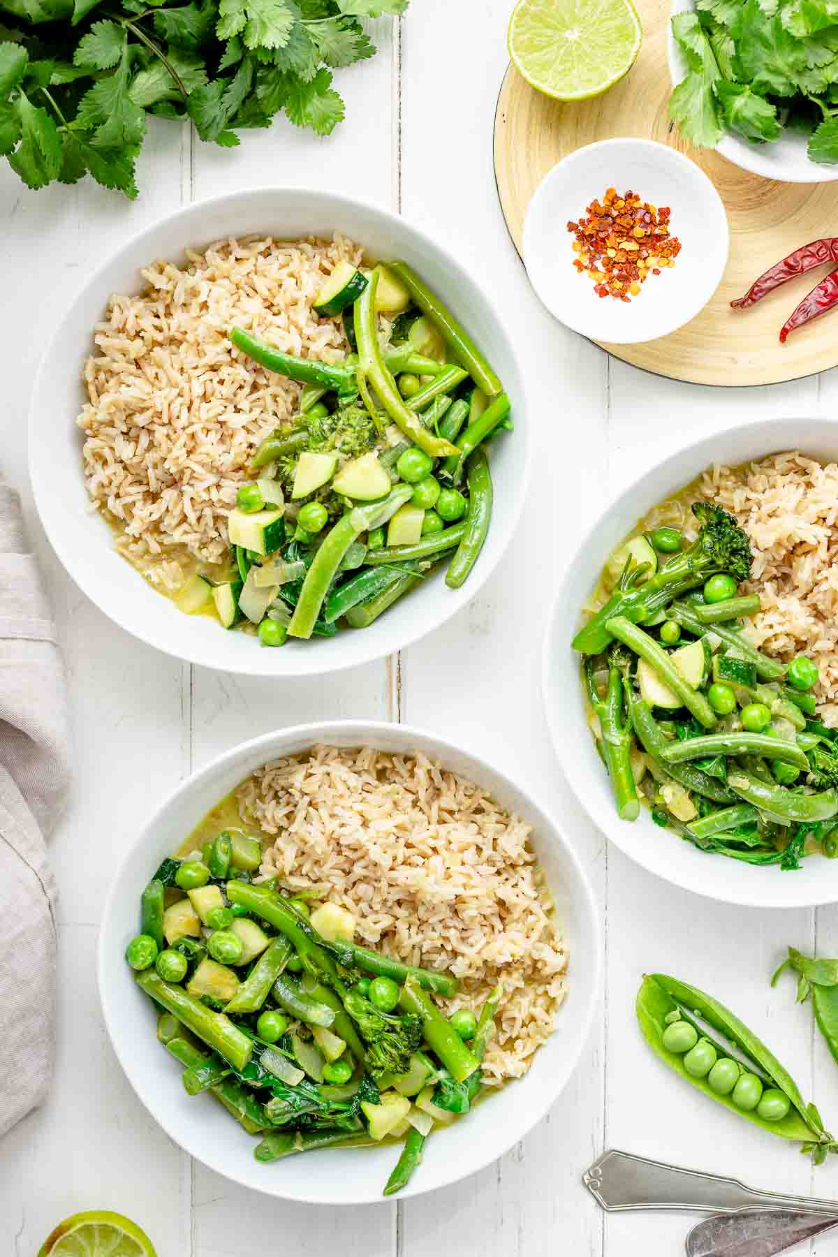 Easy Thai Green Curry with Spring Vegetables