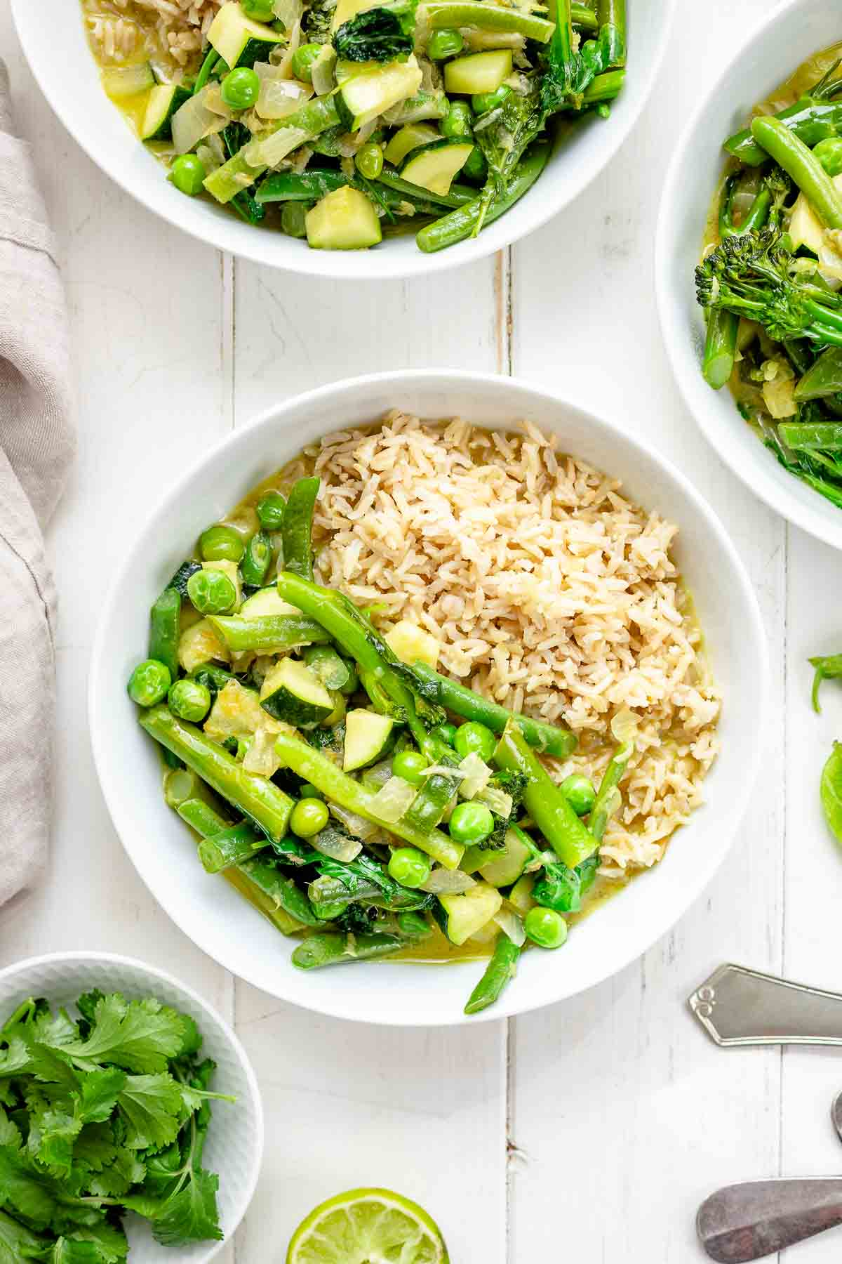 Einfaches Grünes Thai Curry mit Frühlings-Gemüse