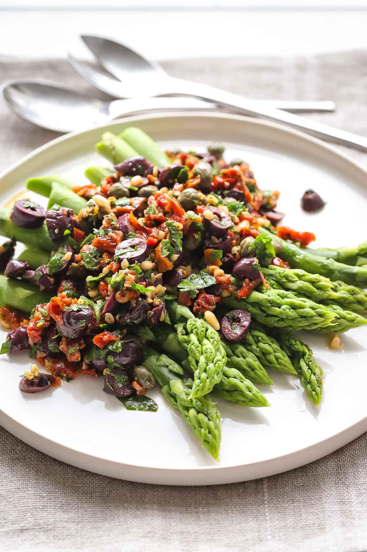 Asparagus with Mediterranean Salsa