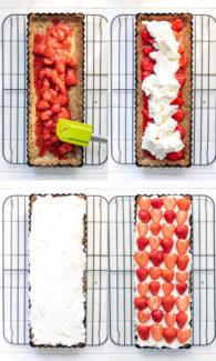 Schritte für Erdbeer-Mascarpone-Tarte