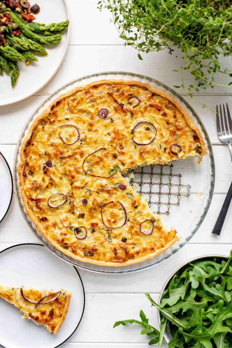 Klassischer Zwiebelkuchen - vegetarisches Rezept