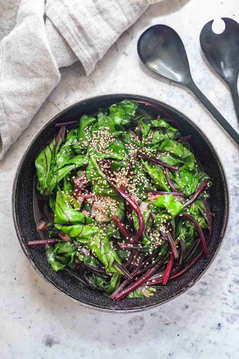 Asian-Style Beet Greens