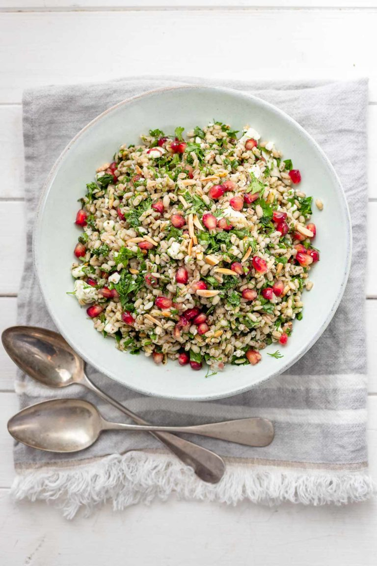 Pearl Barley Salad with Herbs and Feta