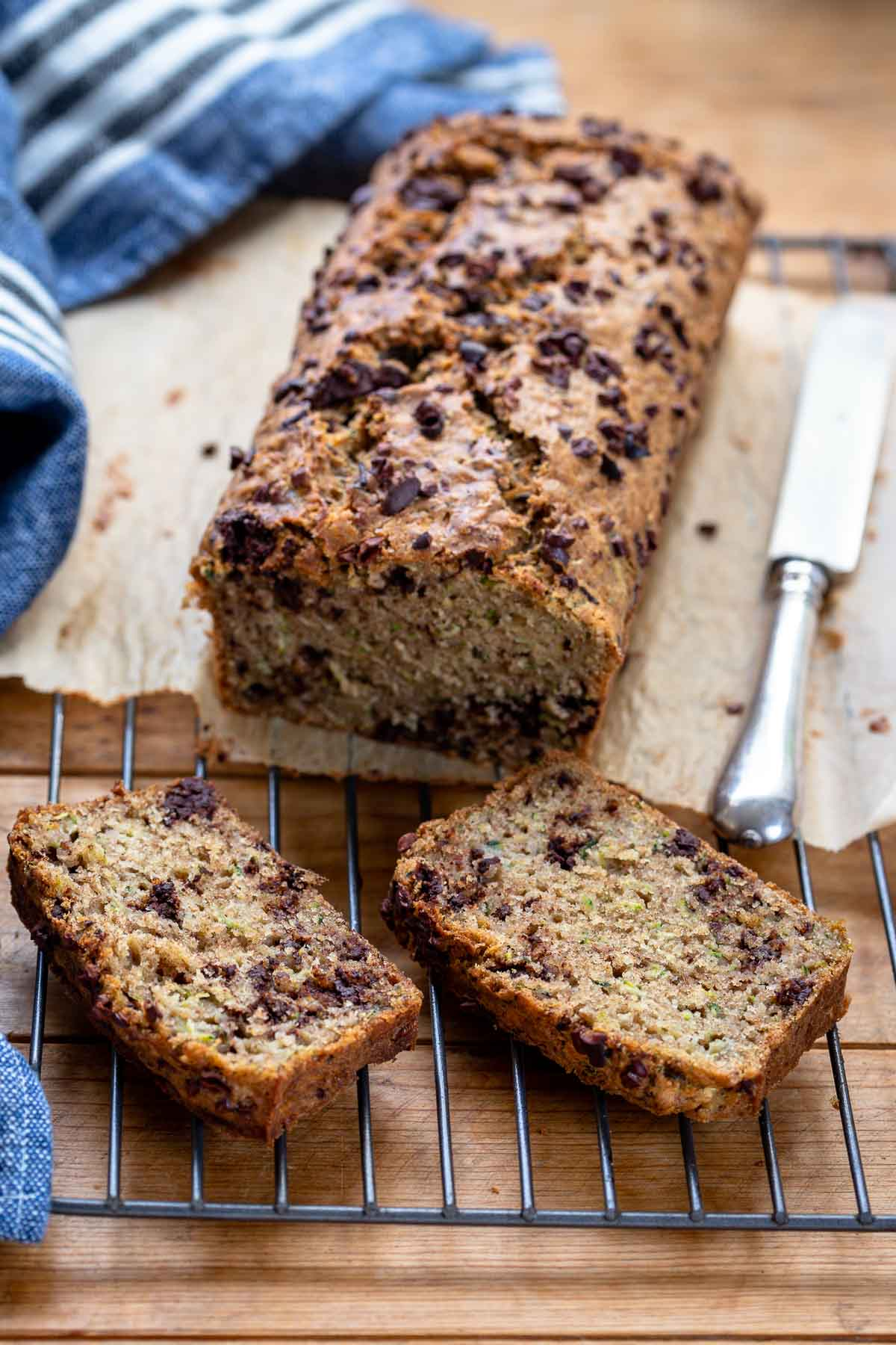 Zucchini Bread with Chocolate Chips