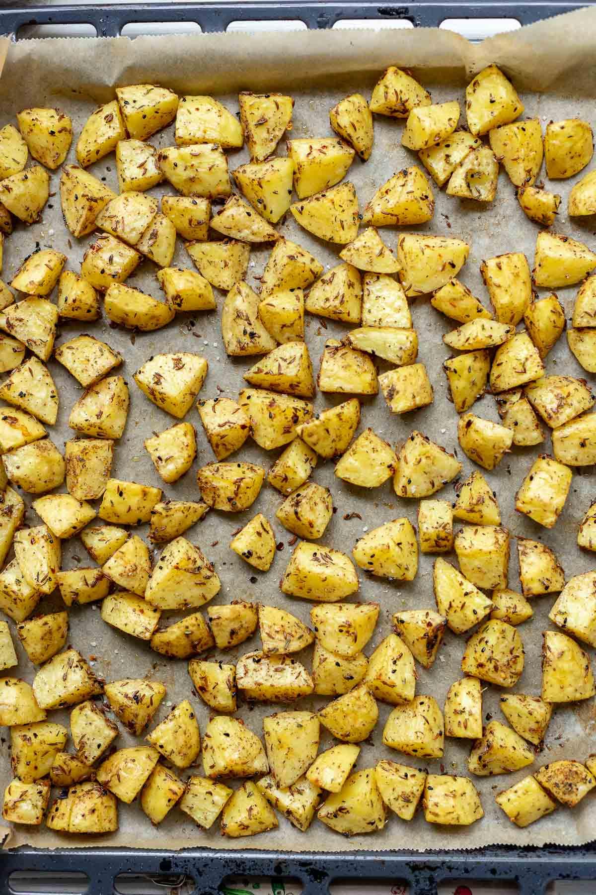 Blechkartoffeln auf orientalische Art