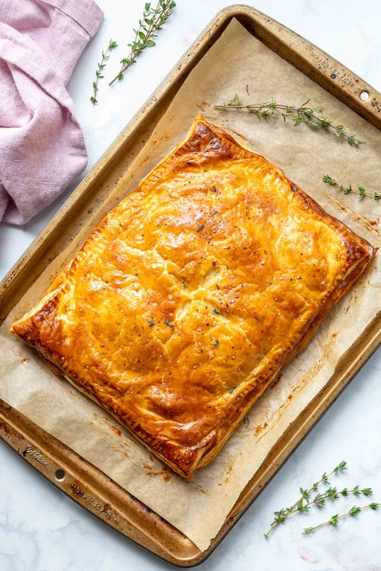Kartoffel-Pastete mit Lauch und Gruyere-Käse