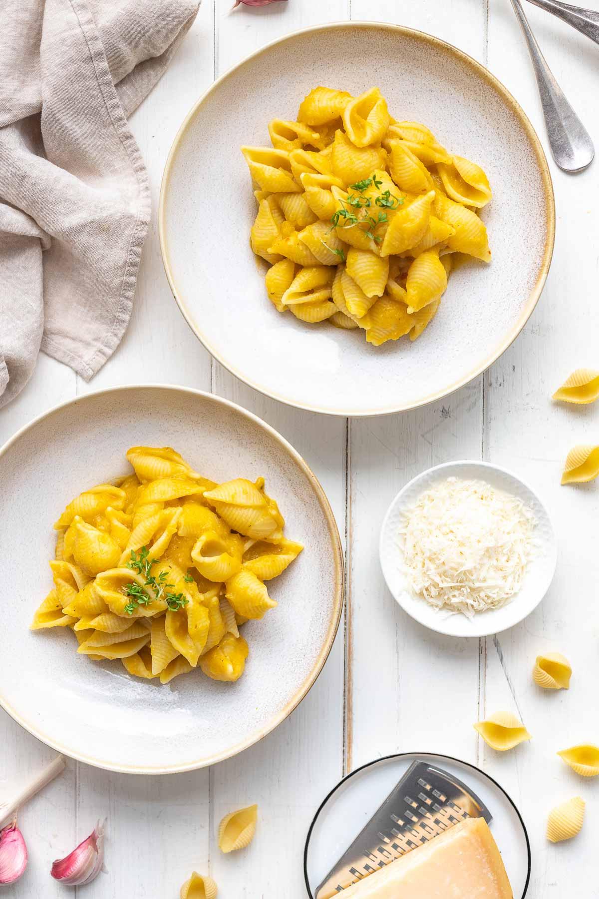 Creamy Butternut Squash Pasta (vegan) with Ral el Hanout