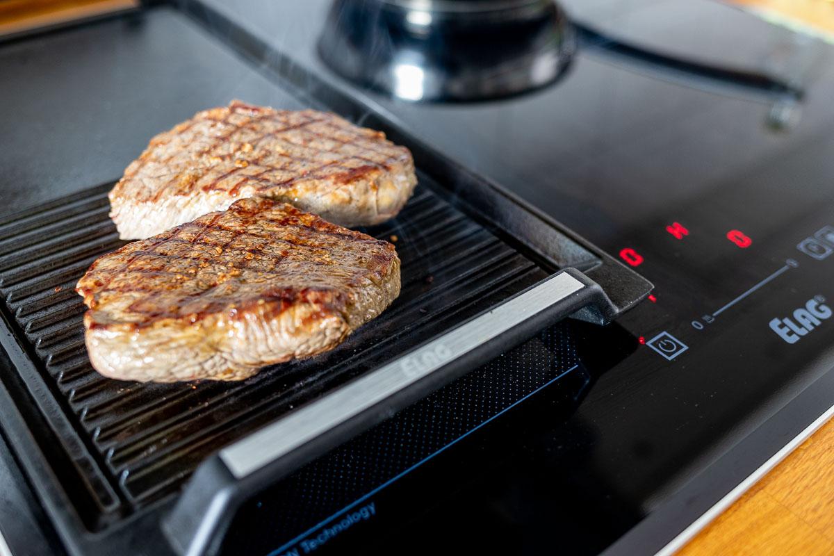 Steak Grillen mit ELAG Induktionkochfeld und Grillplate