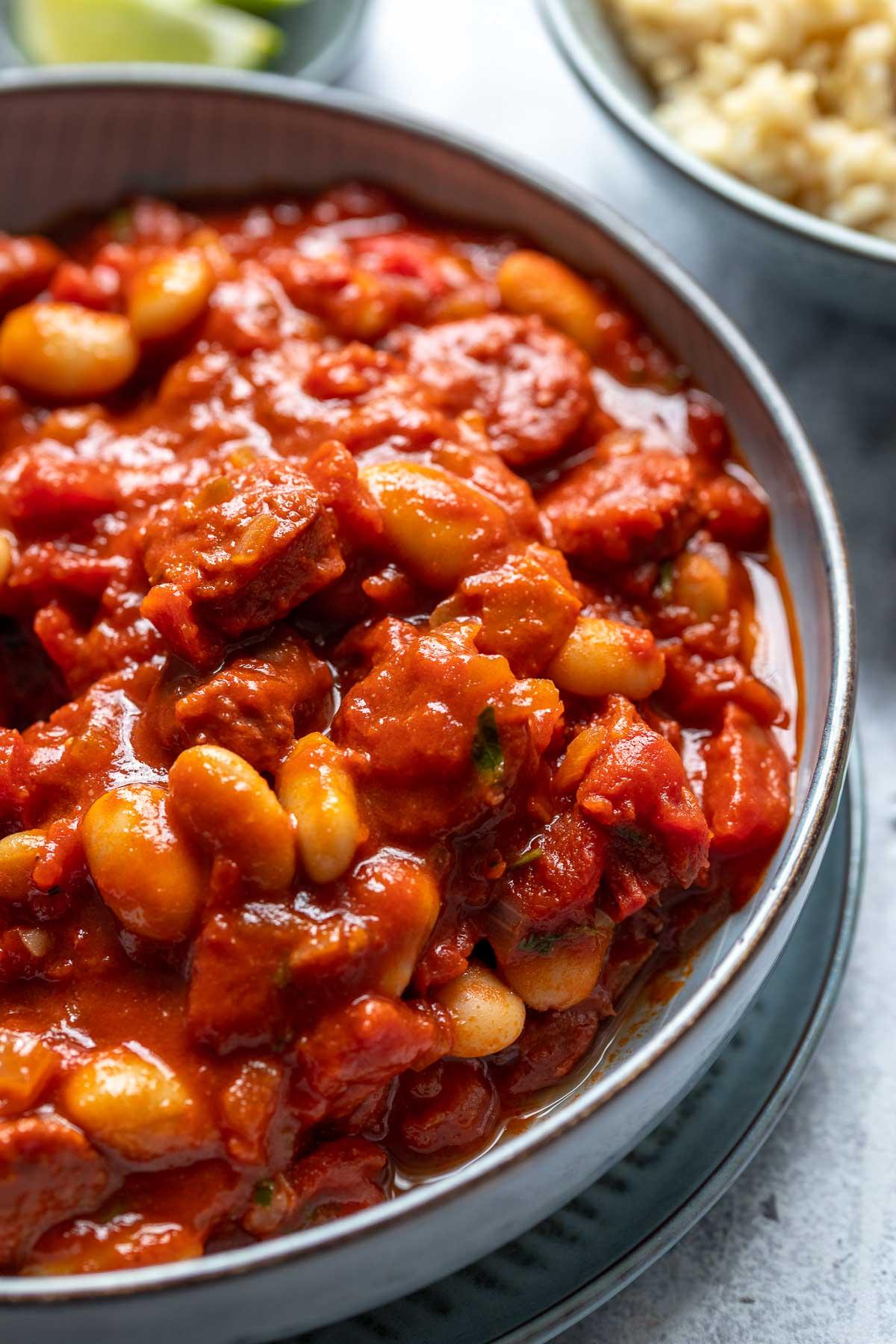 Bohneneintopf mit Chorizo, Spanisches Rezept