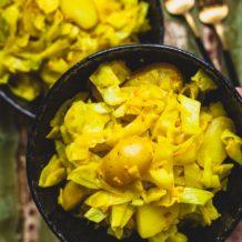 Spitzkohl-Pfanne mit Kartoffeln (bengalische-Art) Rezept