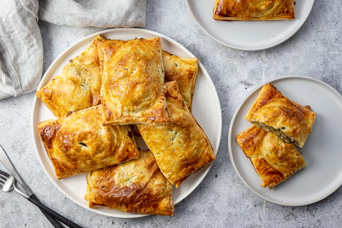 Puff Pastry Hand Pies with Mushrooms & Savoy Cabbage