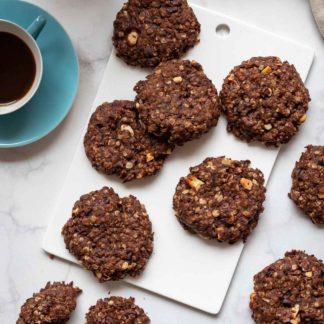 Dinkel-Schoko-Kekse mit Cashew & Kakoa Nibs, vegan Rezept
