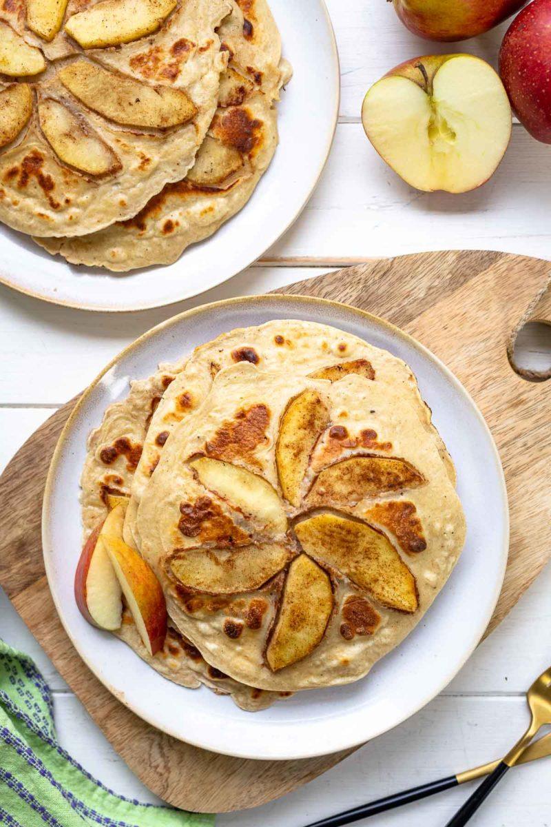 Apfel-Pfannkuchen Rezept mit Tischgrill von ELAG LeMax