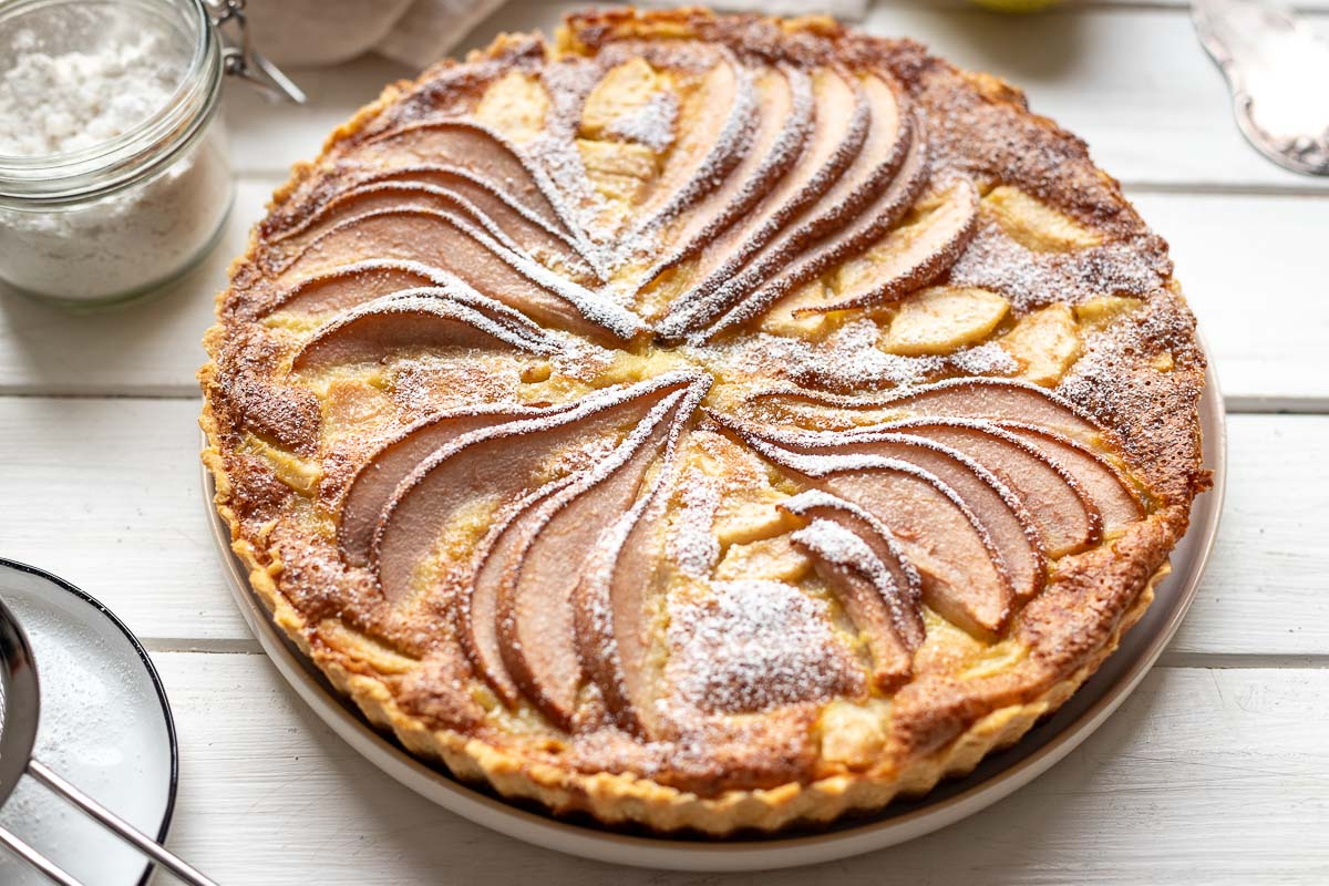 Omas Birnen-Tarte (Birnenkuchen Rezept)