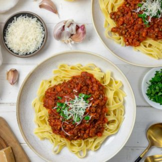 Bolognese mit Linsen und Salsiccia