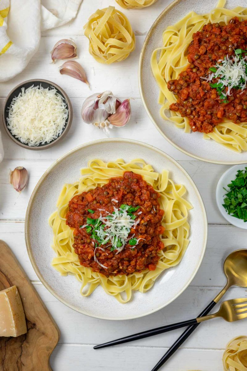 Bolognese mit Linsen und Salsiccia Rezept