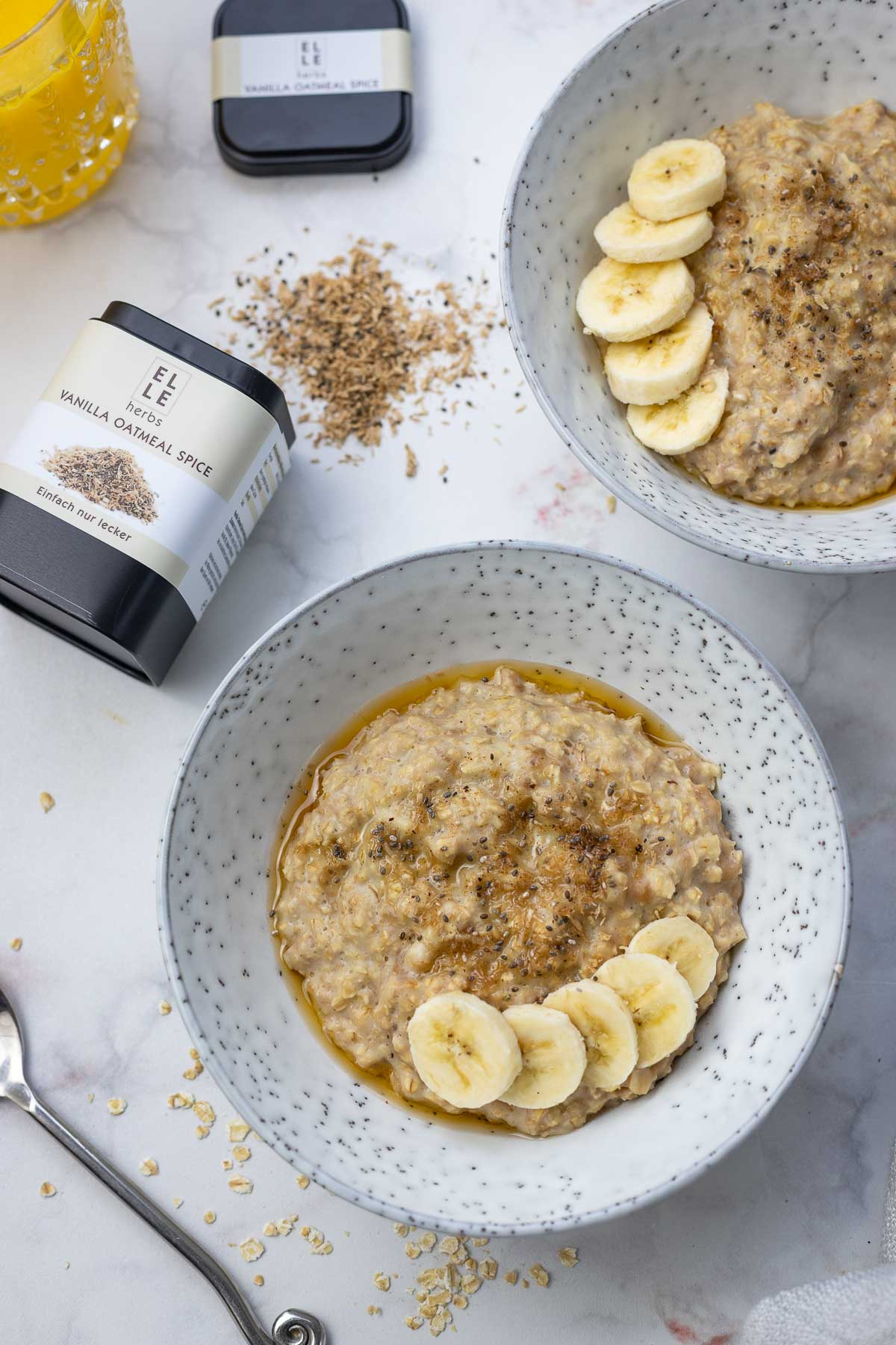 Banana Porridge with Maple Syrup Elle Herbs Vanilla Spice