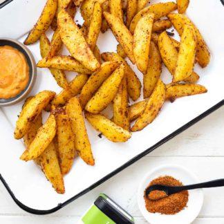 Knusprige Ofenkartoffeln - Kartoffelecken Rezept mit Veggie Spice Elle Herbs