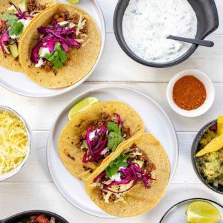 Schnelle mexikanische Tacos mit Hackfleisch