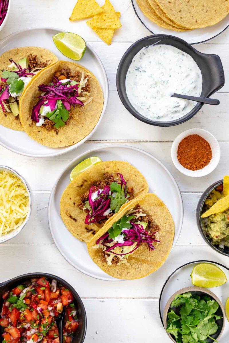 Schnelle mexikanische Tacos mit Hackfleisch Rezept