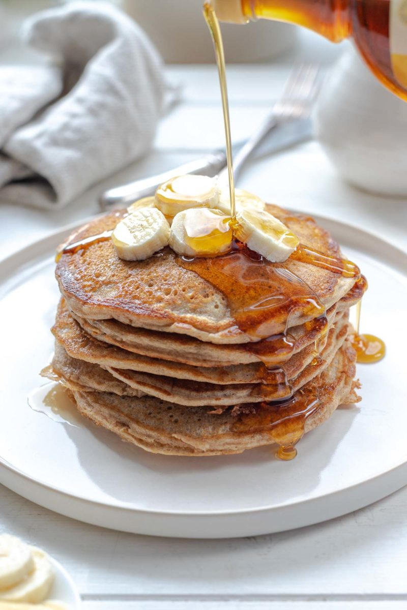 Gesunde Pfannkuchen, Gesunde Pancakes mit Vollkorn Dinkelmehl
