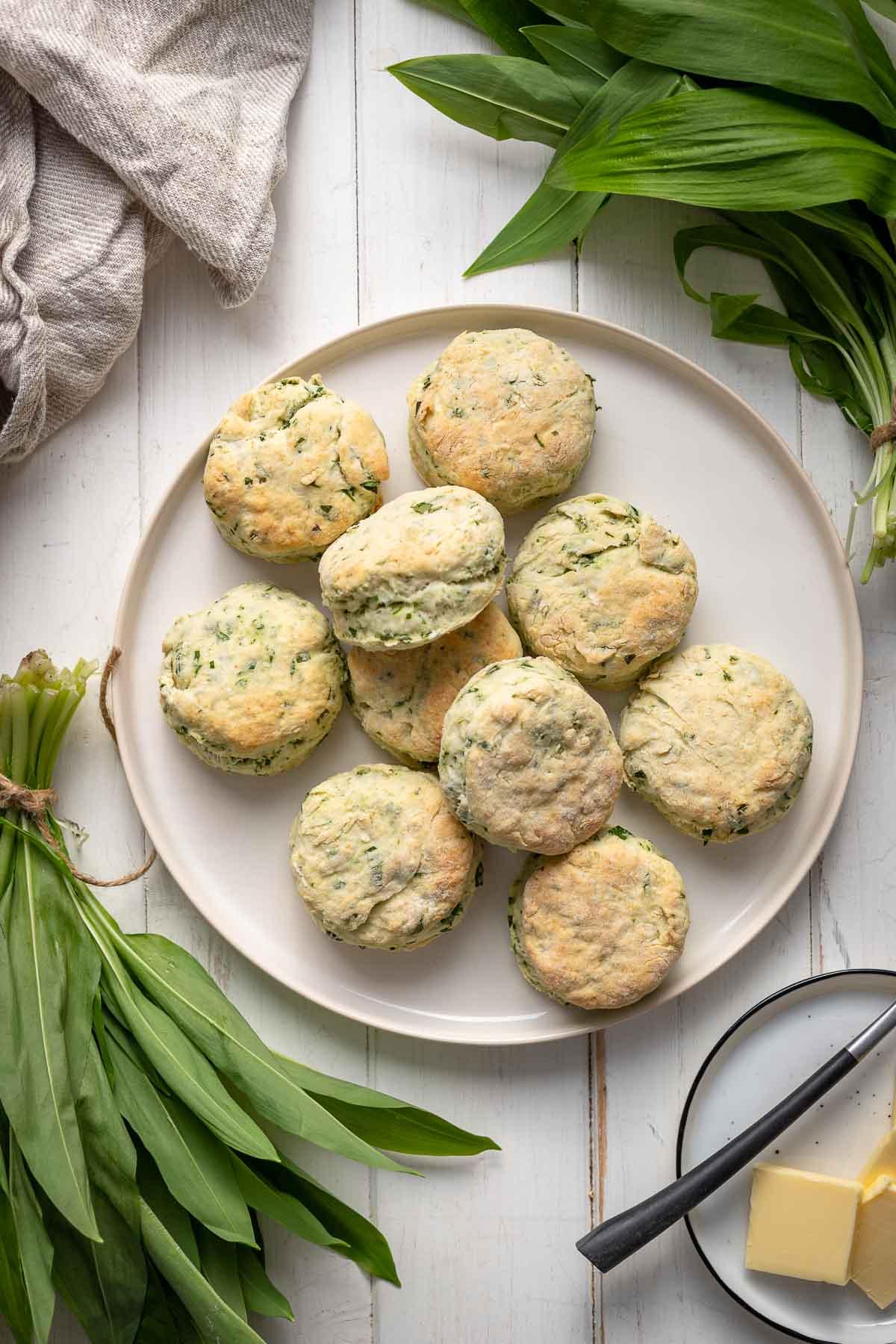 Buttermilk Biscuits with Wild Garlic | Recipe | Elle Republic