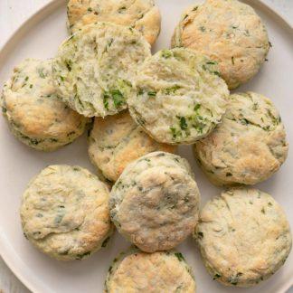 Buttermilch Biscuits mit Bärlauch