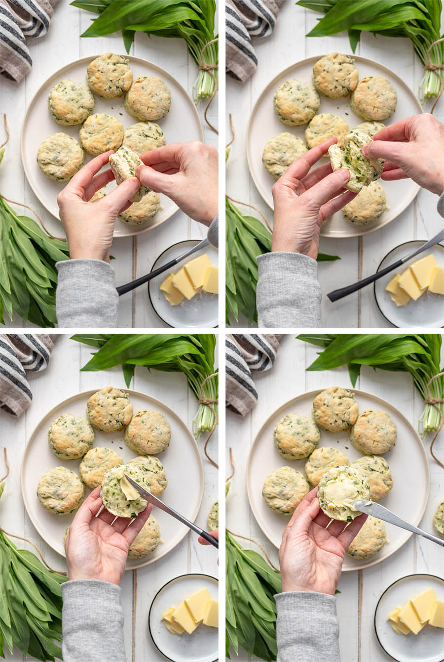 Buttermilk Biscuits with Wild Garlic