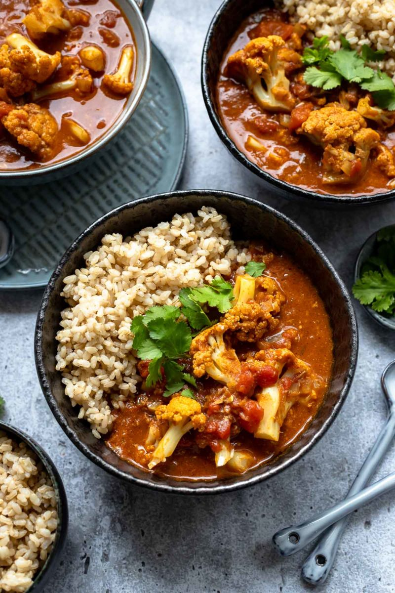 Blumenkohl Curry (Indisches Gobi Butter Masala)