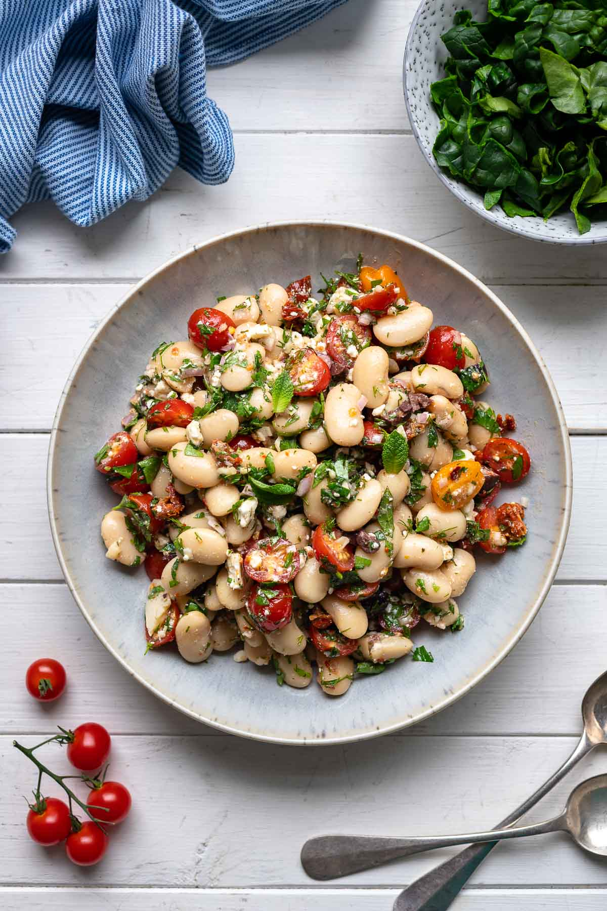 Greek Style Jumbo White Bean Salad