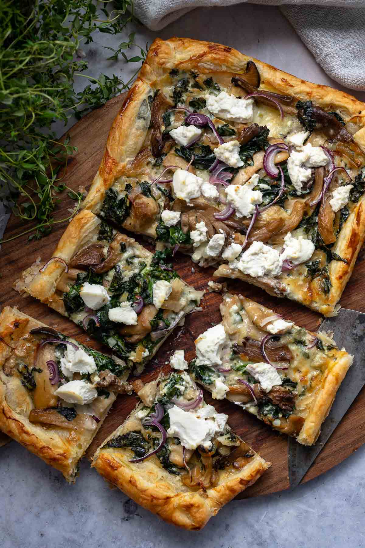 Mushroom Tart with Puff Pastry | Recipe | Elle Republic